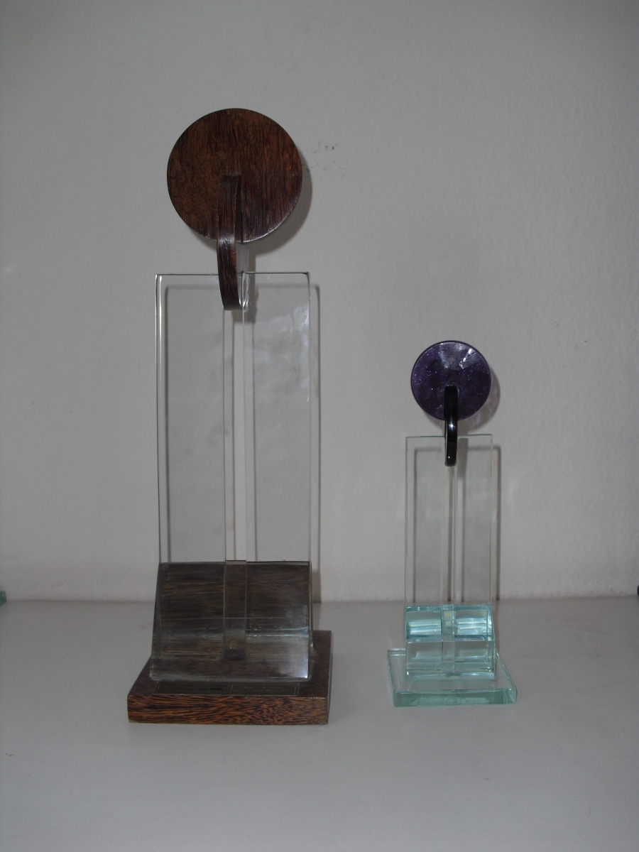 Trofeu de vidro AMCHAM