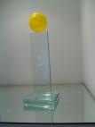 Troféu de vidro CBT