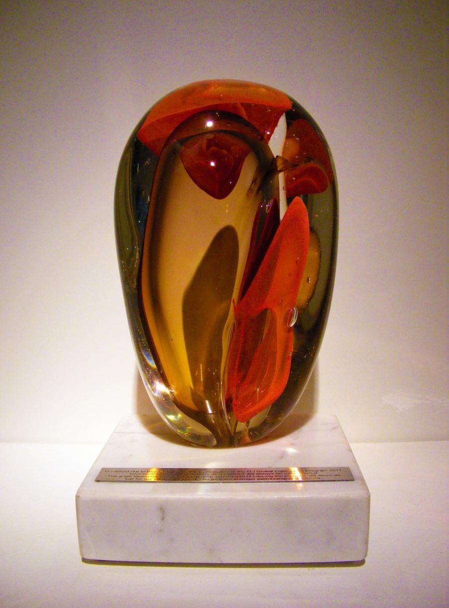 Troféu de cristal Owens-Nestlé Espaco Zero
