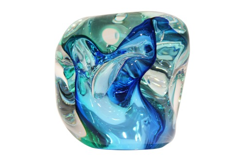 Escultura de cristal Merapi - Assinada por Elvira Schuartz